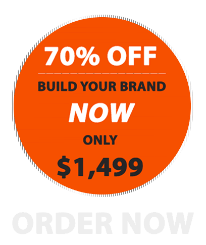 70% off, build your brand now!